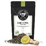 Edward Fields Tea ® - Té verde orgánico a granel con Jengibre y Limón. Té bio recolectado a...