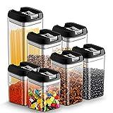 7pcs Tarro con Tapa de Almacenamiento Recipiente Hermetico Cocina Plastico Caja de Almacenamiento...