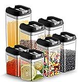 7pcs Botes Hermeticos Cocina Plastico Tarro almacenaje Alimentos con Tapa Recipiente Caja de...