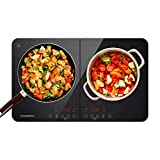 CIARRA CBTIH2 Placa Inducción 3500W, Cocina de Inducción de Doble Placas Ultrafino, Control...