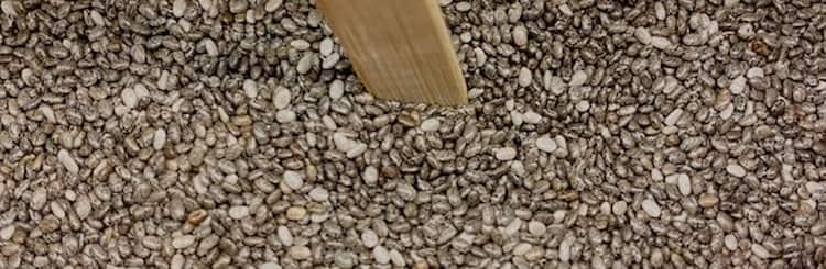 Semillas de chía ricas en grasas saludables